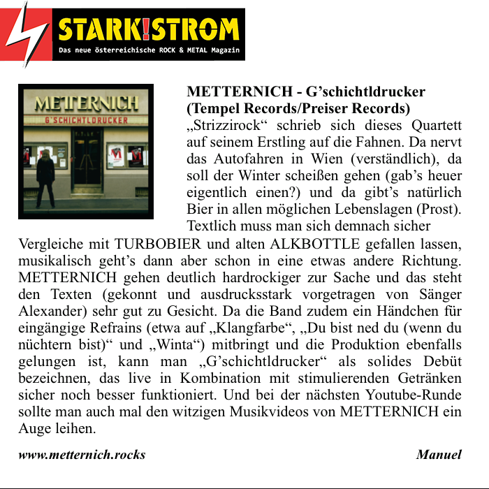 "Starkstrom – Review ""Gschicht'tldrucker"""