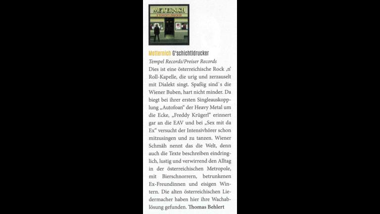 """Schall Magazin – Review """"G'schichtldrucker"""""""